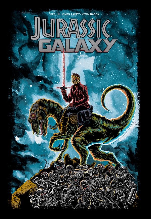 Jurassic Galaxy tee art