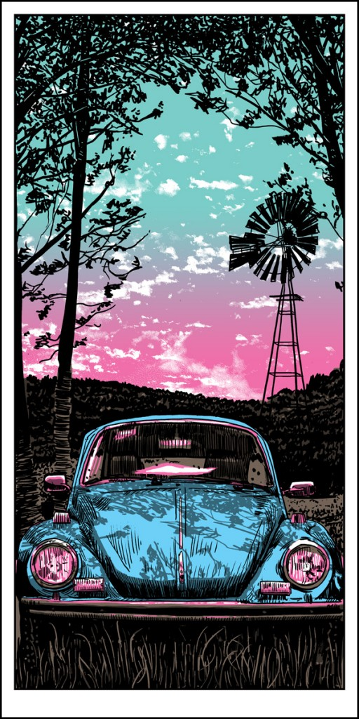 VW bug art print WEB